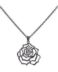 MANJA Jewellery - Rosa Large Black Pendant - Lyst