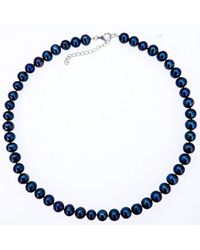 Lily Blanche - Classic Pearl Necklace - Midnight - Lyst