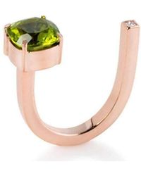 Myriamsos - The Side Stone Peridot Ring - Lyst