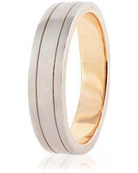 Nigel OReilly Goldsmith and Jewellery Design - Men's Palladium And Rose Gold Wedding Band - Lyst