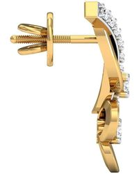 Diamoire Jewels - Prong Set Earrings With 18 Diamonds In 18kt Yellow Gold - Lyst