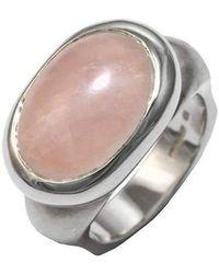 Luke Goldsmith - Silver Eyecandy Rose Quartz Ring - Lyst