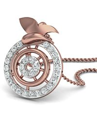 Diamoire Jewels - Inspired By Nature 18kt Rose Gold Pave Designer Diamond Pendant - Lyst
