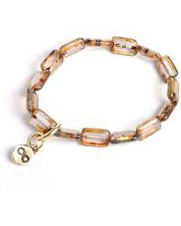 Eva Michele Pale Amethyst Infinity Bracelet