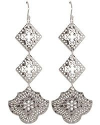 Murkani Jewellery - Goddess Hanging Earrings In Sterling Silver - Lyst