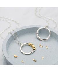 Posh Totty Designs Personalised Secret Names Necklace 2 - Metallic