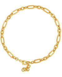 Shinar Jewels 22kt Gold Plated Silver Golden Sun Roman Bracelet - Metallic