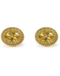 Vintouch Italy - Luccichio Gold Vermeil Citrine Stud Earrings - Lyst