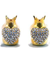 BuDhaGirl - Golden Heart End Love Caps Bracelet | - Lyst
