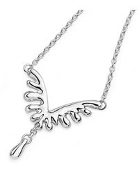 Lucy Quartermaine Mini V Style Necklace - Metallic