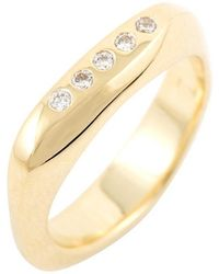Corinne Hamak 18kt Yellow Gold Birth Ring - Metallic