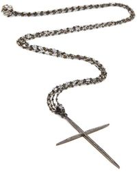 Kaizarin - Sterling Silver & Diamond Large Cross Necklace | - Lyst