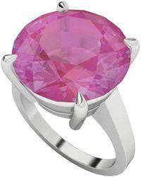 StyleRocks Pink Sapphire 9kt White Gold Domed Ring - UK U - US 10 1/4 - EU 62 3/4 qnQ4d