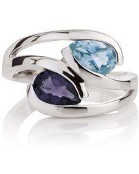 MANJA Jewellery - Iolite And Blue Topaz Love Birds Ring - Lyst