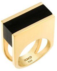 Helana Mckenzie Jewellery Designs 24kt Gold Plated Rendition Resin Ring - Metallic