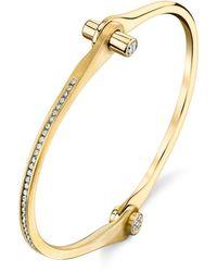 Borgioni Pave Skinny Handcuff - Metallic