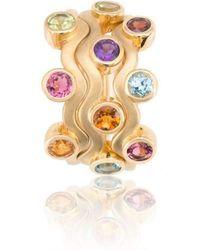 Biiju Rainbow Egg Box Ring Trio - Multicolor