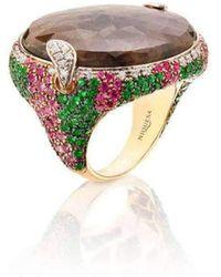 Niquesa Fine Jewellery - Venice Volto Brown Sapphire Ring - Lyst