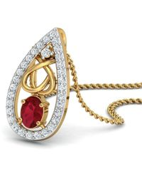 Diamoire Jewels - Oval Cut African Ruby And Diamonds Hand-set In 14kt Yellow Gold - Lyst