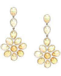 Syna 18kt Ethiopian Opal Earrings With Diamonds tbfMAweZY7