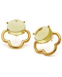 Maviada Capri Yellow Gold Vermeil Earrings - Metallic