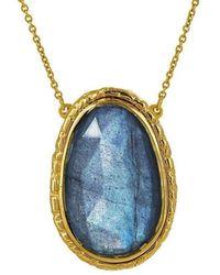 Susan Wheeler Design - Labradorite Drop Necklace - Lyst