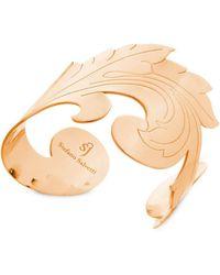 Stefano Salvetti - Rose Gold Plated Bronze Rigid Bracelet - Lyst