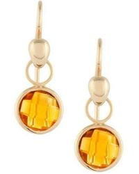 Biiju Lucy Citrine Earrings - Metallic