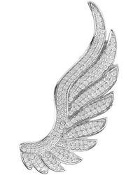 LÁTELITA London Sterling Silver Gabriel Angel Wing Ear Climber - Right - Metallic