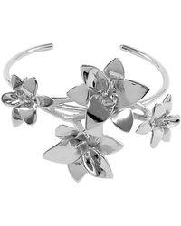 Isa Bagnoli - Silver Orchid Bracelet - Lyst
