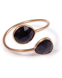 Black Betty Design - Gemini Ring With Black Onyx - Lyst