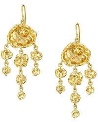 Joseph Lamsin Jewellery Jelly Fish Chandelier Gold Vermeil Earrings - Metallic