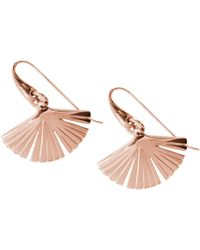 Stefano Salvetti - Pink Gold Plated Ira Bronze Earrings - Lyst