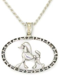 Donna Pizarro Designs Sterling Silver Welsh Corgi Necklace With 14kt Accent Md856QdAy