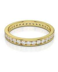 AG & Sons 18kt Yellow Gold Full Eternity Ring With Round-cut, Channel-set Diamonds - Uk J - Us 4.75 - Eu 48.7 - Metallic