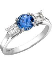 Robert Bicknell Fine Jewellery The Manhattan Sapphire Diamond R - Blue