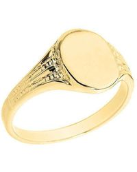 QP Jewellers - Oval Signet Ring In 9kt Gold - Lyst