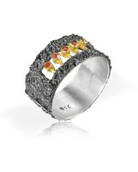Apostolos Jewellery - The Earth Song 4 Oxidised Silver Ring - Lyst