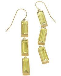 Sandy Leong - Luminous Triple Wire Lemon Citrine Earrings - Lyst
