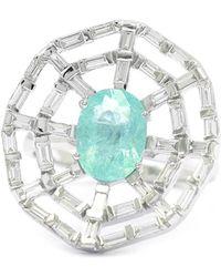 Ri Noor - Web Paraiba & Baguette Diamond Ring - Lyst