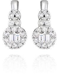 Ortaea Fine Jewellery 18kt White Gold Bridal Diamond Earrings L - Metallic