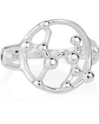 Yasmin Everley Sterling Silver Sagittarius Astrology Ring - Metallic