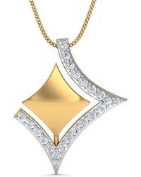 Diamoire Jewels Streamlet Diamond Pendant in 18kt Rose Gold IeTvaqaBK
