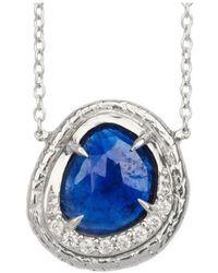 Susan Wheeler Design - Blue Sapphire Necklace - Lyst