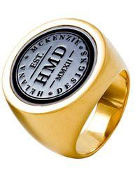 Helana Mckenzie Jewellery Designs Black Signet Ring