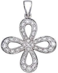 Diamoire Jewels Verdurous 18Kt White Gold Diamond Pendant roBz13Ss6r