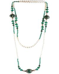 M's Gems by Mamta Valrani - Magnifique Pearl Necklace With Onyx, Diamantes And Beads - Lyst