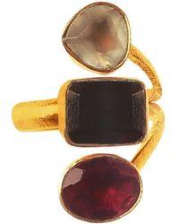 Isla - Jewel Three Stones Ring Garnet - Lyst