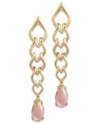 Chavin Couture - 18kt Yellow Gold Earrings With Pink Opal - Lyst
