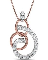 Diamoire Jewels Delicately Carved Pendant in 18kt Rose Gold Q3dPokl1
